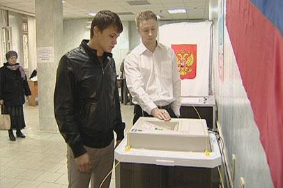 Новичков поздравили с участием в выборах