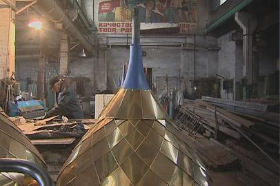 В Благовещенске изготавливают купола для нового храма