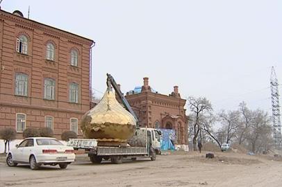 Старинный благовещенский храм обрел новые купола