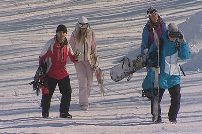 Склоны сопок под Благовещенском «оккупировали» сноубордисты