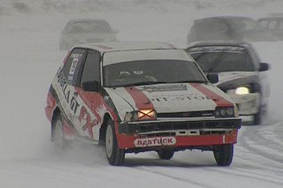 Завершился чемпионат Приамурья по ледовым автогонкам