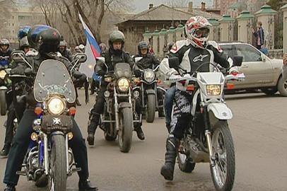 Олег Кожемяко поучаствовал в открытии байкерского сезона в Приамурье