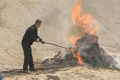 Амурские наркополицейские сожгли 700 килограммов наркотиков