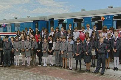 Детская железная дорога заработала в Свободном