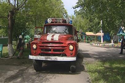 Противопожарные учения прошли в лагере Гагарина