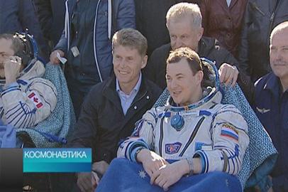 Космонавтика. Приземление экипажа МКС