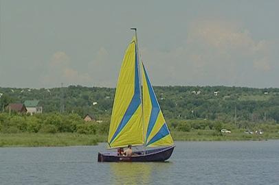 Амурские яхтсмены провели тренировку на Чигиринском водохранилище