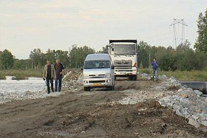 Движение на размытом участке трассы Тыгда-Зея частично восстановлено