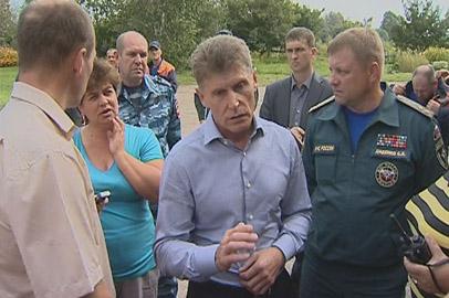 Олег Кожемяко побывал в подтопленных Гродекове и Свободном