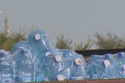 29 тонн бутилированной воды прибыло в область из Новосибирска