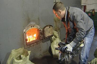 В Благовещенске сожгли более 150 килограммов мяса, рыбы и морепродуктов