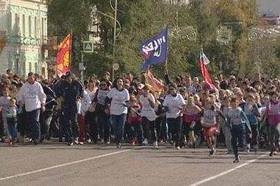 На старт всероссийского массового забега вышли 4 тысячи амурчан