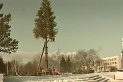 Строительство снежного городка в Благовещенске