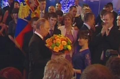 Амурчанку с Новым годом поздравил Владимир Путин
