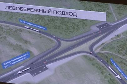 Главе Приамурья представили предварительный проект моста через Зею в Благовещенске