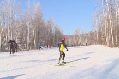 Зейских лыжников не останавливают лютые морозы