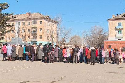 Жители посёлка Прогресс вышли на митинг