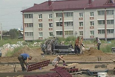 Район социальных новостроек в Благовещенске начали благоустраивать