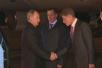Владимир Путин прибыл в Амурскую область