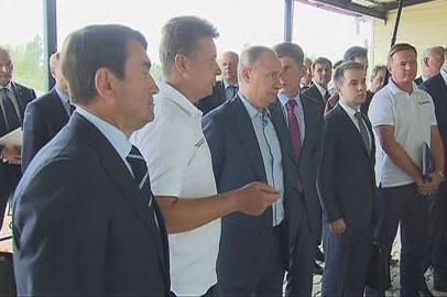 Владимир Путин проинспектировал участок федеральной трассы «Амур»