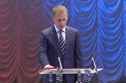 Александр Козлов официально вступил в должность мэра Благовещенска