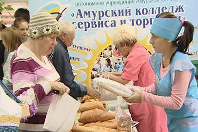 Ярмарку хлебобулочных изделий провели в Благовещенске
