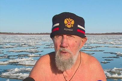 Самому опытному моржу Амурской области исполнилось 85