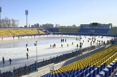 Состоялось открытие катка на стадионе «Амур»