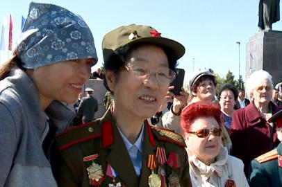 На благовещенский парад Победы прибыли ветераны из Китая