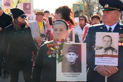 Акция «Бессмертный полк» открыла празднование 70-летия Победы в Благовещенске
