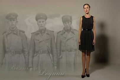 Екатерина Костыгова читает стихотворение Ю.Трофимова «Бойцы бессмертного полка»