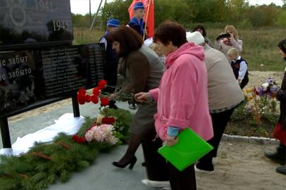 Воевавшим во Второй мировой войне установили памятник в Белоцерковке