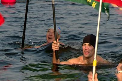 Более 80 спортсменов из России и Китая приняли участие в заплыве «Бурейская миля»