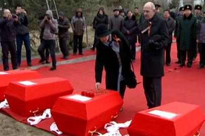 Родственники погибшего в Китае красноармейца приехали на церемонию перезахоронения