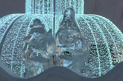 Освещение снежного городка в Благовещенске заработало в тестовом режиме