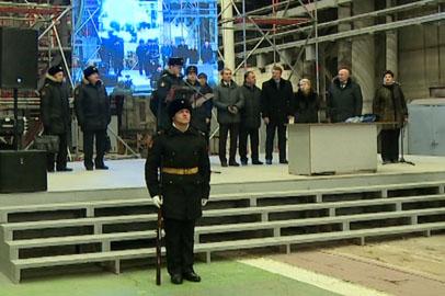 Благовещенские судостроители торжественно заложили корабль для ТОФ