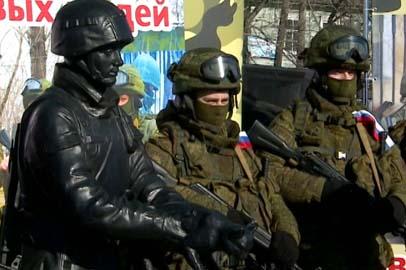 Копия памятника Вежливому солдату отправилась из Белогорска в Крым