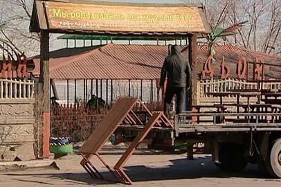 В Благовещенске начали сносить кафе в районе Амурской,1