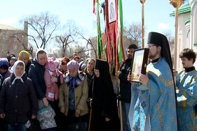 Крестным ходом амурские православные отметили Благовещение Пресвятой Богородицы