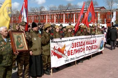 Участники автомарша «Звезда нашей Великой Победы» побывали в Благовещенске