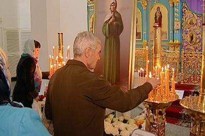 Благовещенцы поклонились мощам блаженной Матроны Московской
