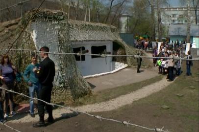 9 мая в Благовещенске для посещения был открыт артиллерийский полукапонир
