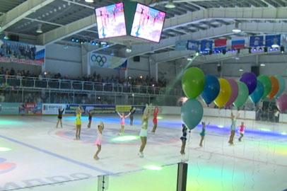 В Новобурейском торжественно открыли ледовый дворец