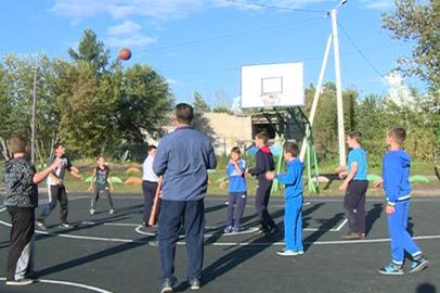 Новую баскетбольную площадку открыли в Екатеринославке