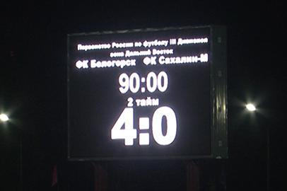 Команда Белогорска стала победителем Дальневосточного чемпионата по футболу