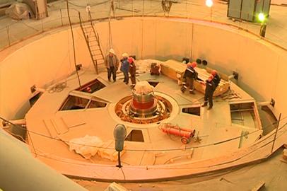Почти завершен монтаж первого гидроагрегата НБГЭС