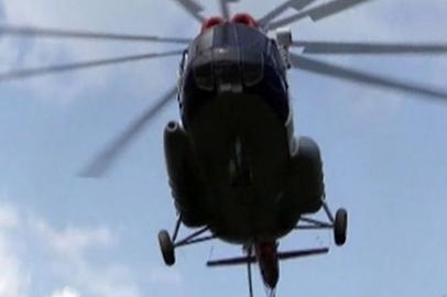 В Зейском районе опрокинулся взлетавший вертолёт Ми-8