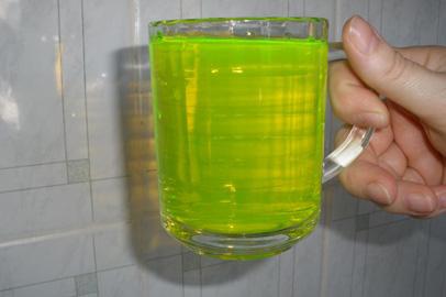 В многоэтажных домах Прогресса из кранов пошла зеленая вода
