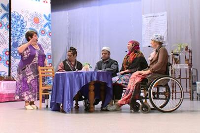 Благовещенские инвалиды представили спектакль «Выходили бабки замуж»