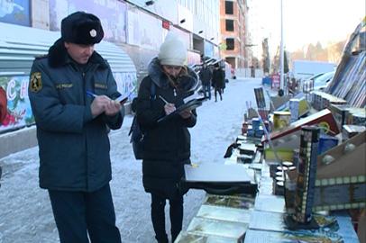Рейд по местам уличной торговли пиротехникой прошел в Благовещенске